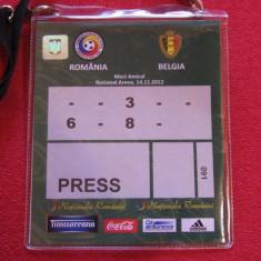 Acreditare meci fotbal ROMANIA - BELGIA (14.11.2012)
