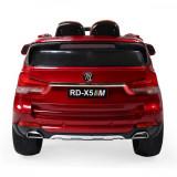 Masinuta electrica cu roti din cauciuc si scaun de piele M5X Red