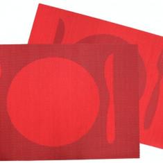 Suport servire masa PVC 30x45cm cu decor rosie Raki