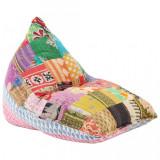 Cumpara ieftin Canapea tip sac multicolor material textil petice