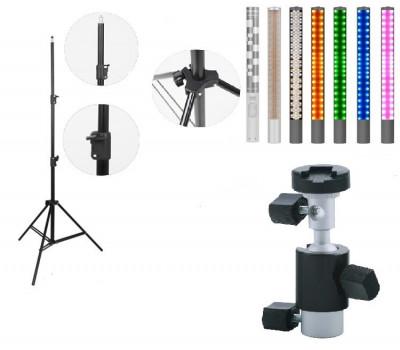 Kit lumina continua Lampa Yongnuo YN360 II + suport orientabil pentru stativ+ stativ foto