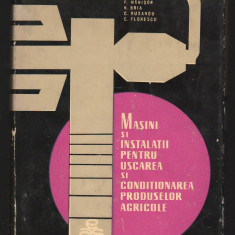 C8734 MASINI SI INSTALATII PENTRU USCAREA SI CONDITIONAREA PRODUSELOR AGRICOLE