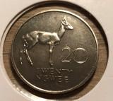 t394 Zambia 20 Ngwee 1968 UNC