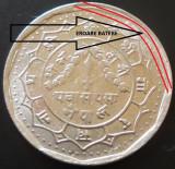 Moneda EXOTICA 50 PAISA - NEPAL, anul 1989  *cod 890 - EXTREM DE RARA!