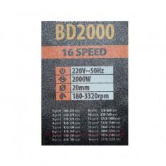 Bormasina cu banc Procraft BD2000