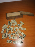 Joc domino vintage din abanos si os, 28 piese