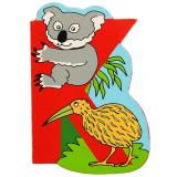 Magnet cu animale - Litera K | Bigjigs Toys