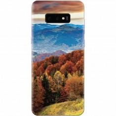 Husa silicon pentru Samsung Galaxy S10 Lite, Autumn Mountain Fall Rusty Forest Colours