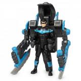 Figurina NightWing Mega Gear Action cu accesorii pentru lupta, 10 cm, Spin Master