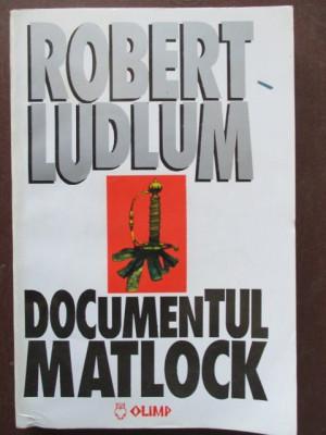 Documentul Matlock Robert Ludlum foto