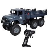 Masina de jucarie cu telecomanda , RC, Camion militar cu suspensii, acumulator reincarcabil Gri