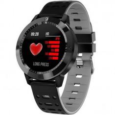 Bratara Fitness iUni CF58, Display OLED, Bluetooth, Pedometru, Monitorizare Puls, Notificari, Gri