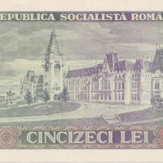 ROMANIA RSR 50 lei 1966  UNC