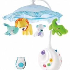 Produs resigilat Carusel bebelusi cu melodii telecomanda, si proiectie de lumini, Smart Baby Mobile 63502