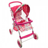 Carucior de jucarie pentru papusi, roz - FL81501