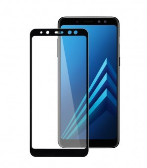 Folie protectie display sticla 5D Samsung Galaxy A8+ (2018) BLACK foto