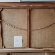 Tablou - pictura ulei pe panza intinsa pe sasiu - semnata - peisaj 1968