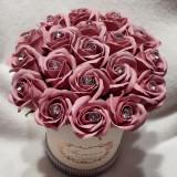 Aranjamente florale din trandafiri de săpun parfumati pe comandă.