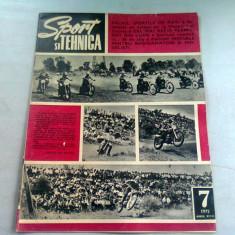 REVISTA SPORT SI TEHNICA NR.7/1972