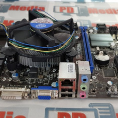 Kit Placa de baza 1155 MICRO-ATX MSI H61M + Procesor i5-3340 Cooler Inclus, Pentru INTEL, DDR 3
