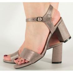 Sandale gri cu gel pe talpa (cod 525101)
