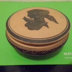 CASETA din ceramica artistica BONFRATE GROTTAGLIE lucrata manual , semnata
