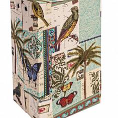 Cos pentru rufe textil Exotic 40x30x60h