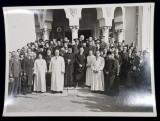 SLUJBA DE SFINTIRE A BISERICII DE LA CRUCEA DE PIATRA , CALUGARENI , FOTOGRAFIE DE A.GH. EBNER - BUCURESTI , MONOCROMA , PE HARTIE LUCIOASA , DATATA