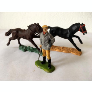 Lot figurine 2 cai si un Lord, Made in England Britains Ltd 1971, 5,5 cm