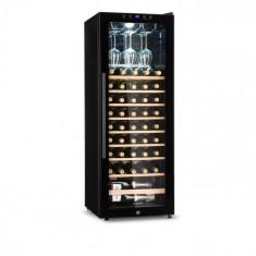 Klarstein Barossa 54S, frigider de vin, 2 zone, 148 l, 54 sticle, ușă de sticlă, touch LED