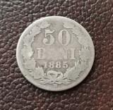 50 BANI 1885 MONEDA RARA, Argint