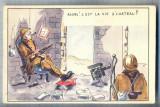AX 15 CP VECHE INTERBELICA -UMORISTICA MILITARA- SOLDATI -VIATA LA CASTEL-RUINAT