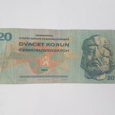 Bancnote Cehoslovacia - 20 korun 1970
