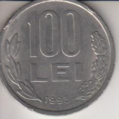 Moneda 100 lei, Romania, 1993