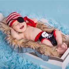 Costum crosetat bebelusi pirat/pescar sedinte foto botez