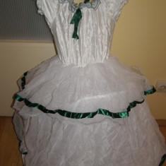 costum carnaval serbare rochie gala printesa pentru copii de 5-6 ani