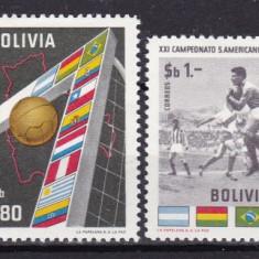 Bolivia  1963   sport  fotbal  MI 692-695   MLH  w59