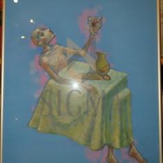 """TABLOU, ION IANCUT """"POTIRUL DE AUR"""", pastel"""