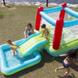 Spatiu de joaca gonflabil Airpro Tech Castel cu piscina si tobogan