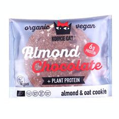 Prajiturica cu Migdale si Ciocolata Neagra Fara Gluten Bio 50gr Kookie Cat Cod: 3800233683264