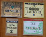 6 etichete nefolosite de vin si banderole sticla , din perioada comunista , 2