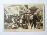 Carte postala circulata Sarajevo 1935-Piața,timbru funerar regele Alexandru I, Egipt, Necirculata, Printata