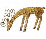 Decoratiune luminoasa pentru exterior Reindeer Gold