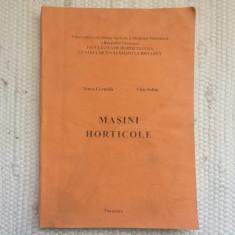 masini horticole facultatea de horticultura timisoara carte tehnica stiinta