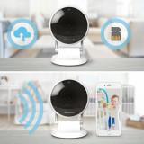Camera supraveghere copii, Wi-Fi, 145 grade, Zoom X6, compatibila Lyric, card SD