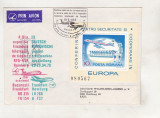 Bnk fil Plic ocazional Zbor Bucuresti Frankfurt 1979 Bienala RFG RSR