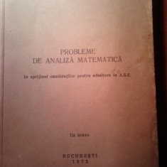 Matematica ASE - Analiza