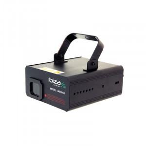 Laser Ibiza 50 mW, 72 secvente, control audio, DMX, racire cu aer, Verde