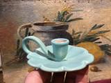 design / arta / vintage - Sfesnic deosebit cu maner din ceramica model deosebit