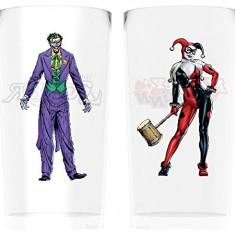 Set 2 pahare - Batman Comic Joker and Harley Quinn, 600 ml   GB Eye
